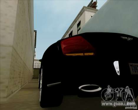 Bentley Continental GT V1.0 for GTA San Andreas side view
