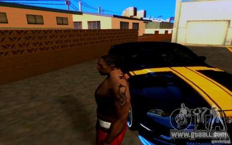Slipknot tatoo for GTA San Andreas third screenshot