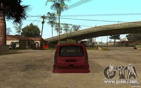 Renault Kangoo Tuning for GTA San Andreas back left view