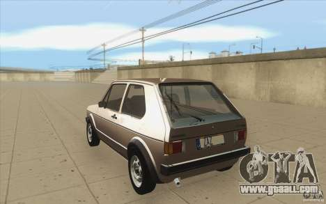 Volkswagen Golf Mk1 - Stock for GTA San Andreas back left view
