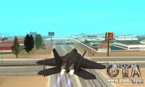 F-22 Black for GTA San Andreas inner view