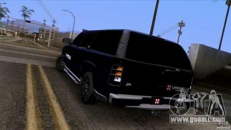 Chevrolet Suburban 2003 v2 for GTA San Andreas back left view