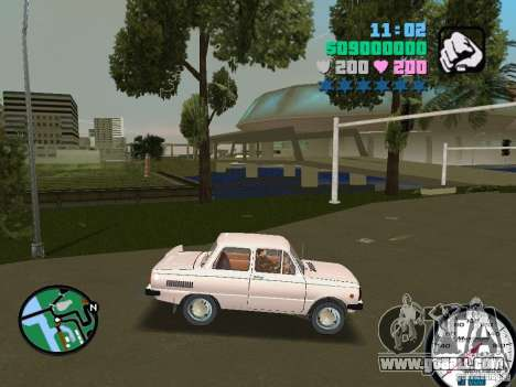 ZAZ 968 for GTA Vice City back left view