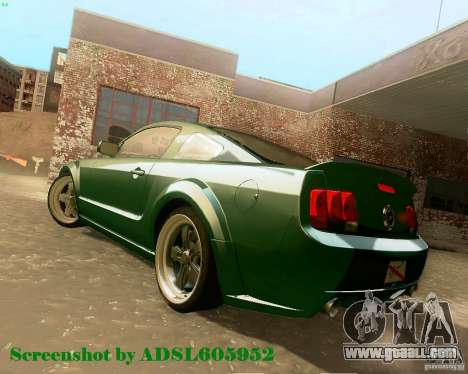 Ford Mustang GT 2005 Tunable for GTA San Andreas inner view