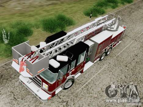 Pierce Rear Mount SFFD Ladder 49 for GTA San Andreas inner view