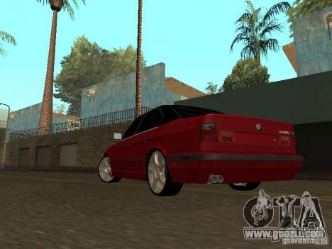 BMW 540i E34 for GTA San Andreas back left view