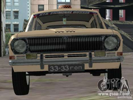 GAZ-24 Volga Taxi 02 for GTA San Andreas right view