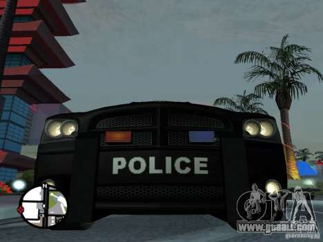 Dodge Charger Police for GTA San Andreas back left view