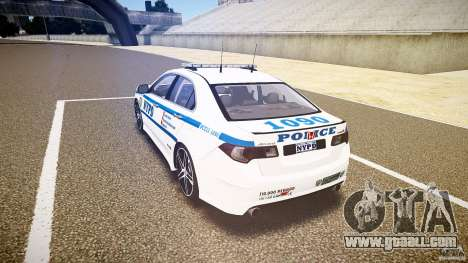 Honda Accord Type R NYPD (City Patrol 1090) ELS for GTA 4 back left view