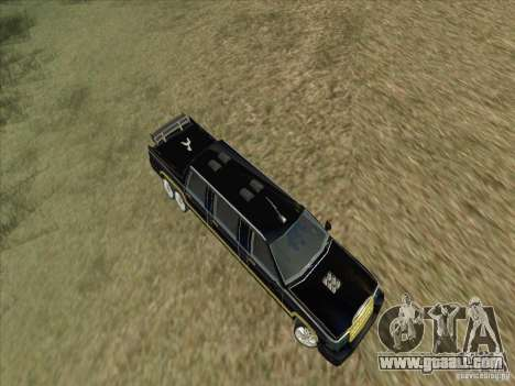Limousine for GTA San Andreas inner view