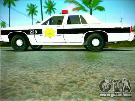 Ford Crown Victoria LTD 1991 HILL-VALLEY Police for GTA San Andreas left view