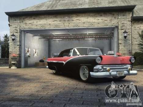 Ford Sunliner Custom 1956 for GTA 4 back left view