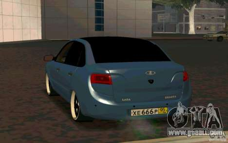 Lada Granta TUNING for GTA San Andreas back left view