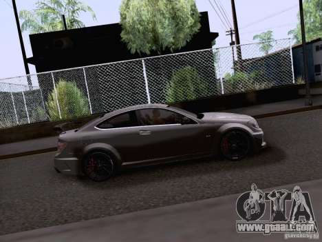 Mercedes-Benz C63 AMG Coupe Black Series for GTA San Andreas back left view