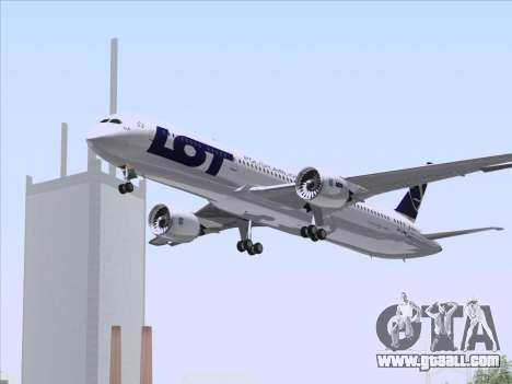Boeing 787-9 LOT Polish Airlines for GTA San Andreas upper view