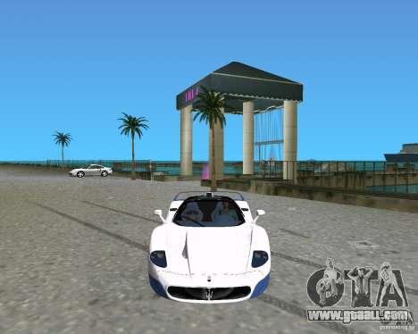 Maserati MC12 for GTA Vice City left view