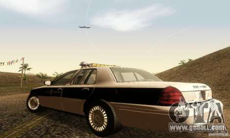 Ford Crown Victoria New Corolina Police for GTA San Andreas left view