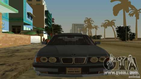 BMW 540i e34 1992 for GTA Vice City back left view