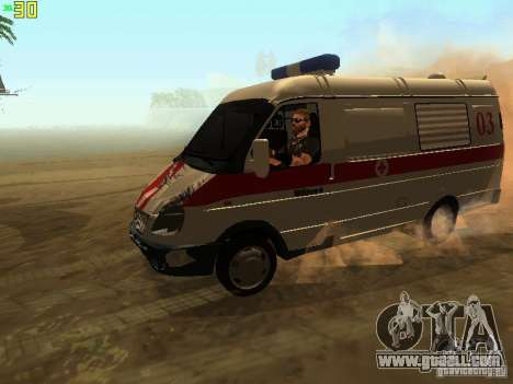 Gazelle 32214 Ambulance for GTA San Andreas side view
