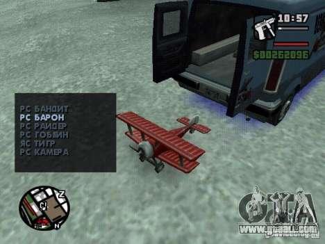 RC mod for GTA San Andreas