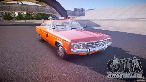 AMC Matador Hazzard County Sheriff [ELS] for GTA 4 inner view
