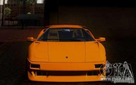 Lamborghini Diablo VTTT Black Revel for GTA San Andreas inner view