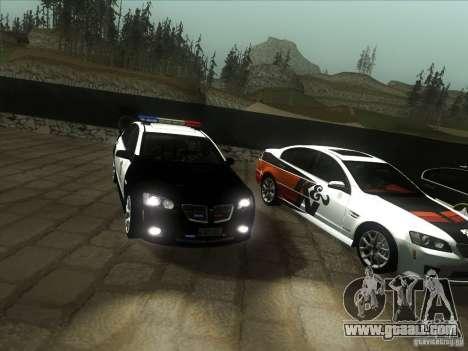 Pontiac G8 Police for GTA San Andreas back view