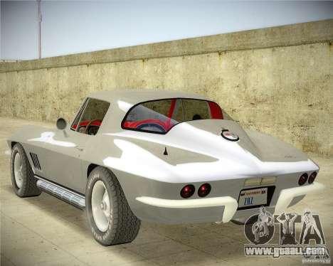 Chevrolet Corvette Stingray for GTA San Andreas left view