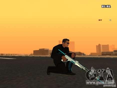 Blue Weapon Pack for GTA San Andreas third screenshot
