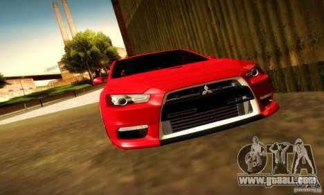 Mitsubishi Lancer Evolution X for GTA San Andreas side view