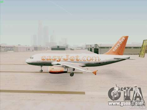 Airbus A319 Easyjet for GTA San Andreas back left view