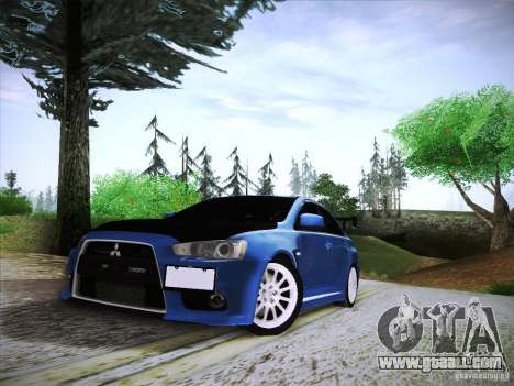 Mitsubishi Lancer Evolution Drift Edition for GTA San Andreas back view