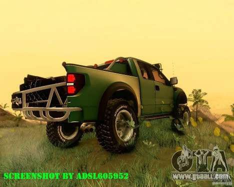 Ford F150 2011 SVT RapTor for GTA San Andreas left view