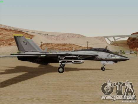 F-14 Tomcat Warwolf for GTA San Andreas back left view