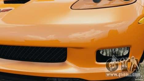 Chevrolet Corvette C6 Grand Sport 2010 for GTA 4 bottom view
