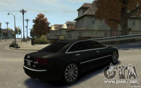 Audi A8 L 6.0 Quattro (Transporter 3) for GTA 4 inner view