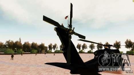MH-60K Black Hawk for GTA 4 back left view