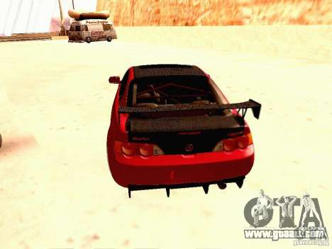 Acura RSX Drift for GTA San Andreas back left view