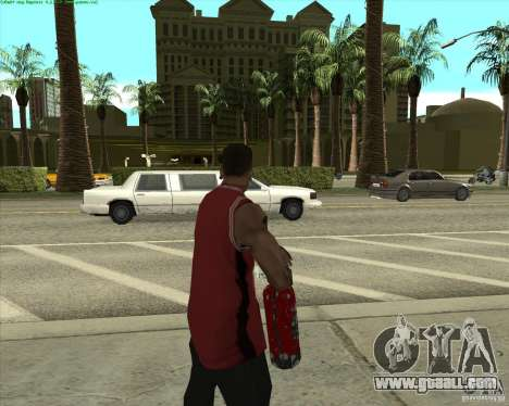 Blood Weapons Pack for GTA San Andreas second screenshot