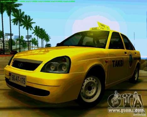 LADA 2170 Priora Baki taksi for GTA San Andreas