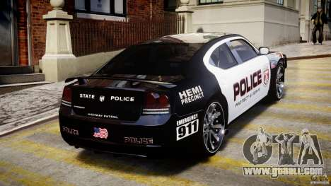 Dodge Charger NYPD Police v1.3 for GTA 4 interior