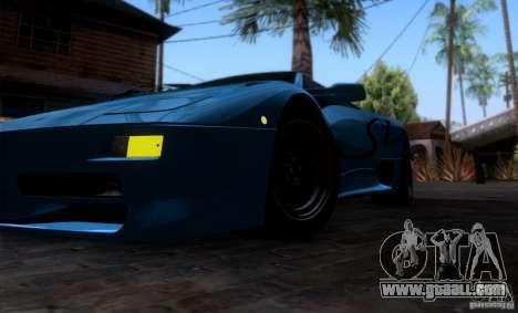 Lamborghini Diablo SV V1.0 for GTA San Andreas interior