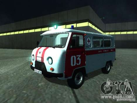 UAZ 3962 ambulance for GTA San Andreas left view