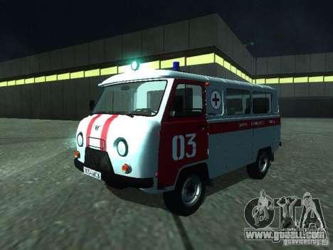 UAZ 3962 ambulance for GTA San Andreas left view