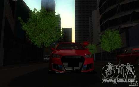 Mitsubishi Lancer EVO X drift Tune for GTA San Andreas right view