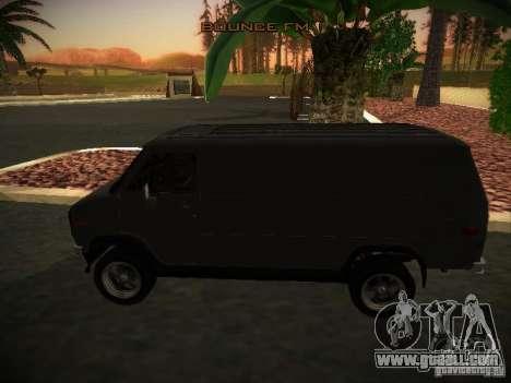 GMC Vandura for GTA San Andreas left view