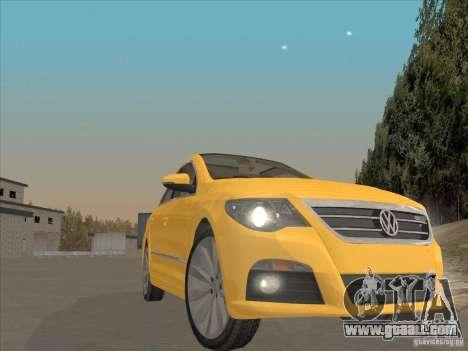 Volkswagen Passat CC for GTA San Andreas inner view