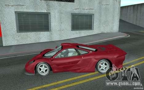 Mclaren F1 GT (v1.0.0) for GTA San Andreas left view