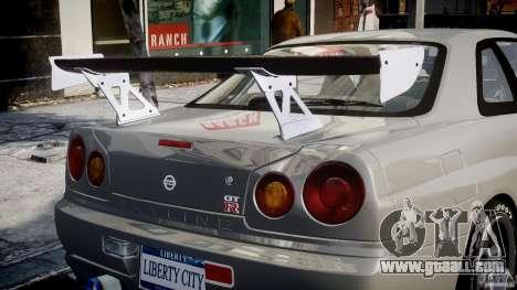 Nissan Skyline R34 Nismo for GTA 4 wheels
