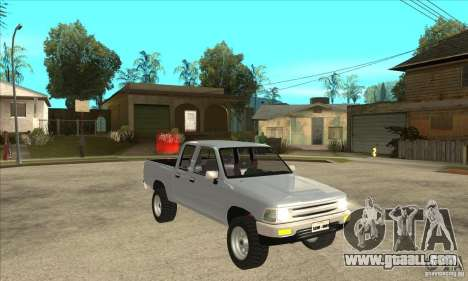 Toyota Hilux CD for GTA San Andreas back view